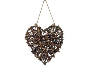Srdce proutěné | základ | 25cm