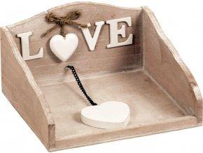Držák na ubrousky dřevěný - Love