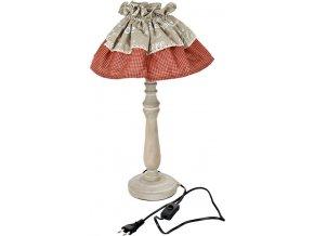 Lampa stolní dřevěná se stínidlem