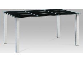 Jídelní stůl skleněný černý 150x90cm