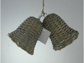 Zvonek set 2 kusů 25x15x12 cm