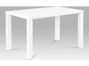 Jídelní stůl bílý lesklý 120x80x76cm