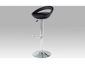 Barová židle koženková černá 44x35x81cm