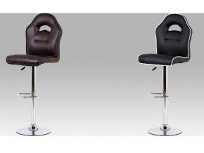 Barová židle koženková 43x38x128x84cm