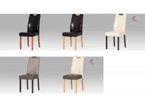 Jídelní židle koženková 42x40x95x46cm