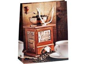 Dárková papírová taška  COFFEE MLÝNEK