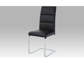 Jídelní židle koženka | chromová podnož