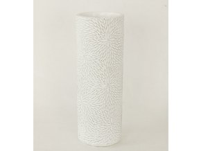 Váza betonová bílá 9x9x25cm