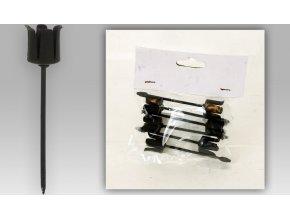 Černý kovový zápich 2x6cm