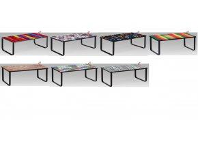 Konferenční stolek skleněný s potiskem