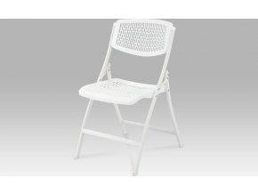 Sklápěcí židle bílá 44x40x83x47cm