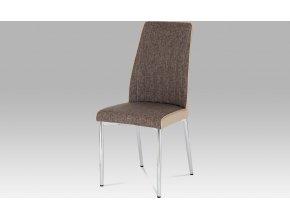 Jídelní židle| látka a koženka | chrom