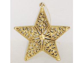Zlaté kovové dekorační hvězdy