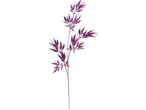 Větvička se třpytkami fialová