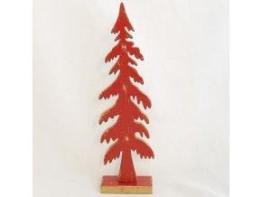 vánoční stromeček   dřevěný   červený