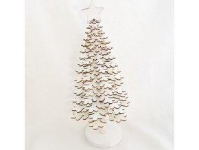 vánoční stromeček   dřevěný   bílý   na stojánku