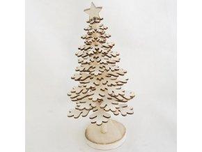 vánoční stromeček   dřevěný   krémový   na stojánku