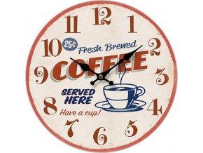 Hodiny nástěnné MDF 34cm Coffee