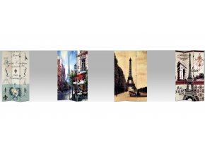 Paravan třídílný Paříž 114x180cm