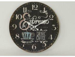 Hodiny nástěnné MDF 34cm Espresso