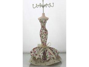 Stojan na šperky | polyresin | květované šaty