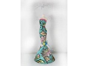Stojan na šperky | polyresin |  tyrkysové šaty