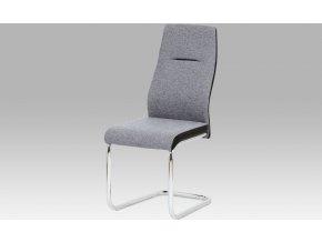 Jídelní židle šedá látka | koženka