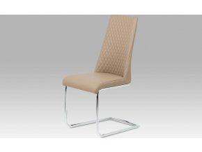 Jídelní židle| koženka | chrom | 45x43x98x48cm