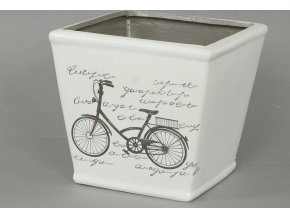 Keramický obal s motivem kola 16,6x16,5x14,5cm
