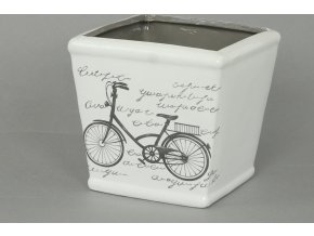 Keramický obal s motivem kola 12,5x12,5x11,5cm
