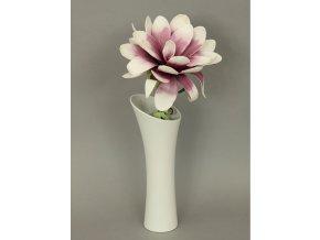 Váza keramická bílá zkosená