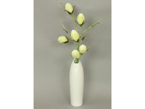 Váza keramická bílá 11x9x35cm