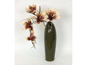 Váza keramická šedá 13x11x43cm