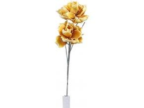 Umělá květina magnolie oranžová