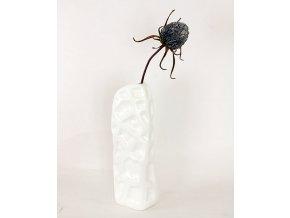 umělá květina pěnová Artyčok šedohnědý