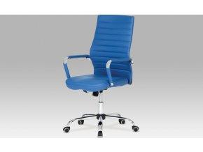 Kancelářská židle | koženka | chrom | houpací mechanismus