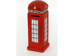 Kasička - telefonní budka