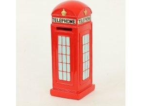 Kasička polyresin - telefonní budka
