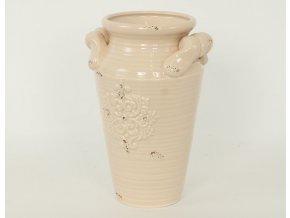 Váza keramická s uchy 17x15x24cm