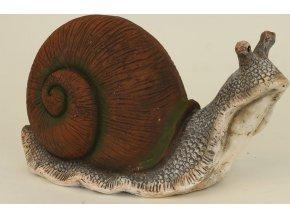 Šnek magneziová keramika 43,5x19x24cm