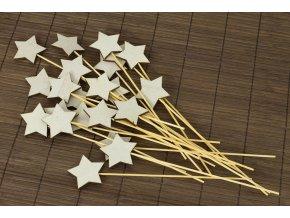 Dřevěná hvězda zápich set 20ks
