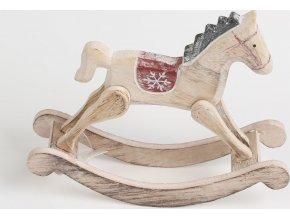 Houpací kůň dřevěný 18x5x14cm