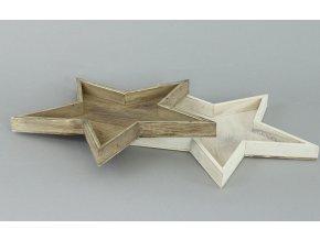 Hvězdička dřevěná dekorační 18x18cm