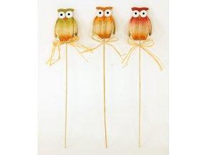 Sova dřevěná | dekorační zápich | balení 2ks