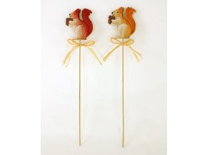 Veverka | dřevěná dekorační zápich | balení 2ks