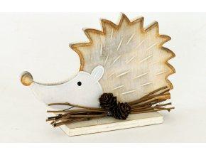 Dřevěný dekorační ježek 17x11cm