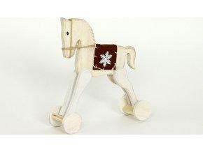 Dřevěný kůň 20x17x6cm