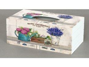 Krabička na kapesníky MDF Levandule