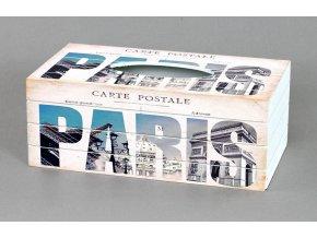 Krabička na kapesníky MDF Paris