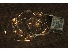Řetěz s LED světýlky, 2metry, čirý